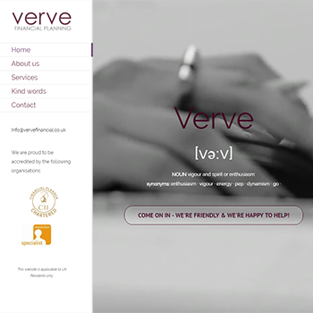 Verve financial Web screenshot